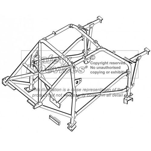 Safety Devices Peugeot 205 Multipoint Bolt In Roll Cage